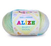Пряжа Alize Baby Wool Batik Ализе Беби Вул Батик купить на официальном сайте 3motka.ru недорого по невысоким ценам, со скидками по оптовым ценам дешево в магазине ТРИ Мотка