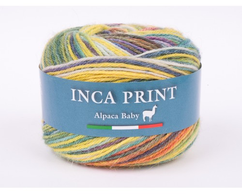 Filatura Di Crosa Inca Print (40% беби альпака, 35% шерсть, 25% полиакрил, 50гр/200м)