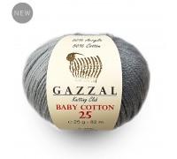 Пряжа Gazzal Baby Cotton 25 Газзал Беби Коттон 25 купить на официальном сайте 3motka.ru недорого по невысоким ценам, со скидками по оптовым ценам дешево в магазине ТРИ Мотка
