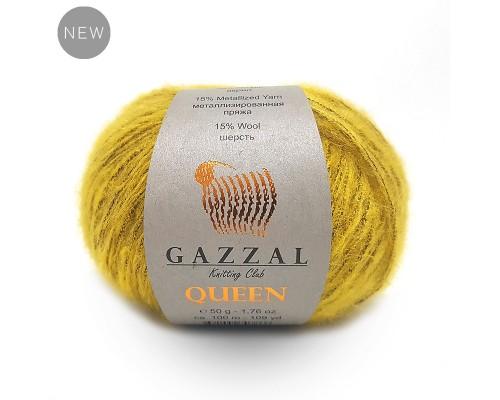 Gazzal Queen (15% Шерсть, 15% Металлизированная Пряжа, 35% Акрил, 35% Полиэстер, 50гр/100м)