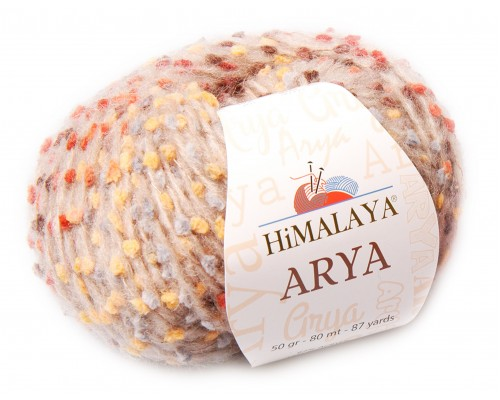 Himalaya Arya (62% акрил, 10% альпака, 18% полиамид, 10% тонкая шерсть мериноса, 50гр/80м)