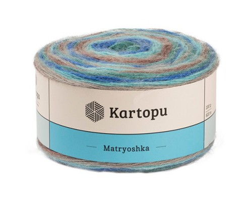 Kartopu Matryoshka (75% Акрил 10% Линкольн 15% Шерсть, 200гр/800м)