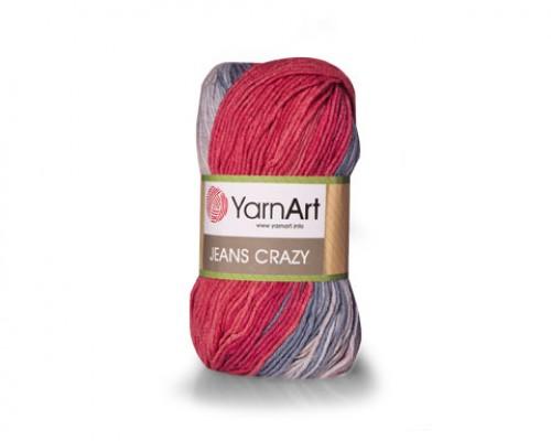 Пряжа YarnArt Jeans Crazy Ярнарт Джинс Крейзи купить на официальном сайте 3motka.ru недорого по невысоким ценам, со скидками по оптовым ценам дешево в магазине ТРИ Мотка