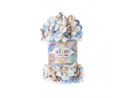 Пряжа Alize Puffy Fine Color Ализе Пуффи Файн Колор купить на официальном сайте 3motka.ru недорого по невысоким ценам, со скидками по оптовым ценам дешево в магазине ТРИ Мотка