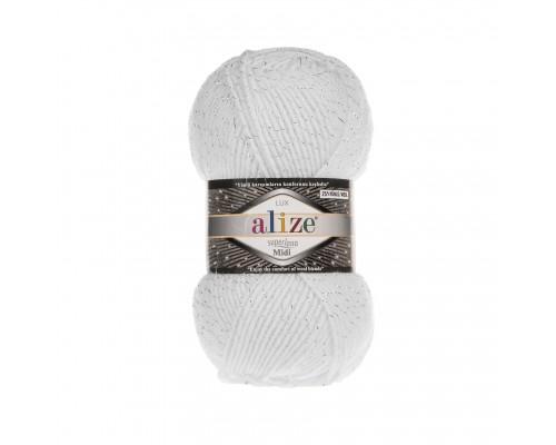 Пряжа Alize Superlana Midi Lux Ализе Суперлана Миди Люкс купить на официальном сайте 3motka.ru недорого по невысоким ценам, со скидками по оптовым ценам дешево в магазине ТРИ Мотка