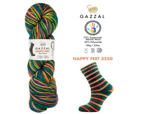 Пряжа Gazzal Happy Feet Газзал Хепи Фит купить на официальном сайте 3motka.ru недорого по невысоким ценам, со скидками по оптовым ценам дешево в магазине ТРИ Мотка